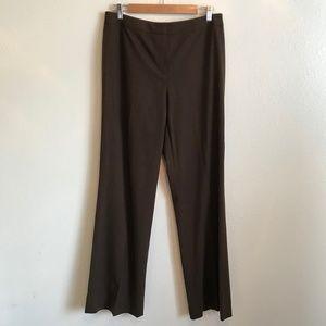 NWT Lafayette 148 NY Brown Menswear Dress Pants